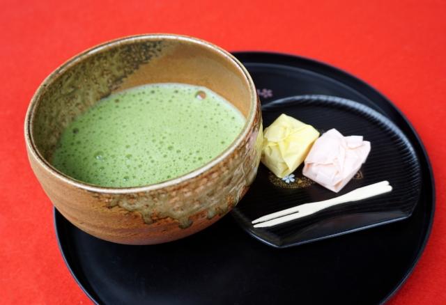 抹茶とお菓子 茶道