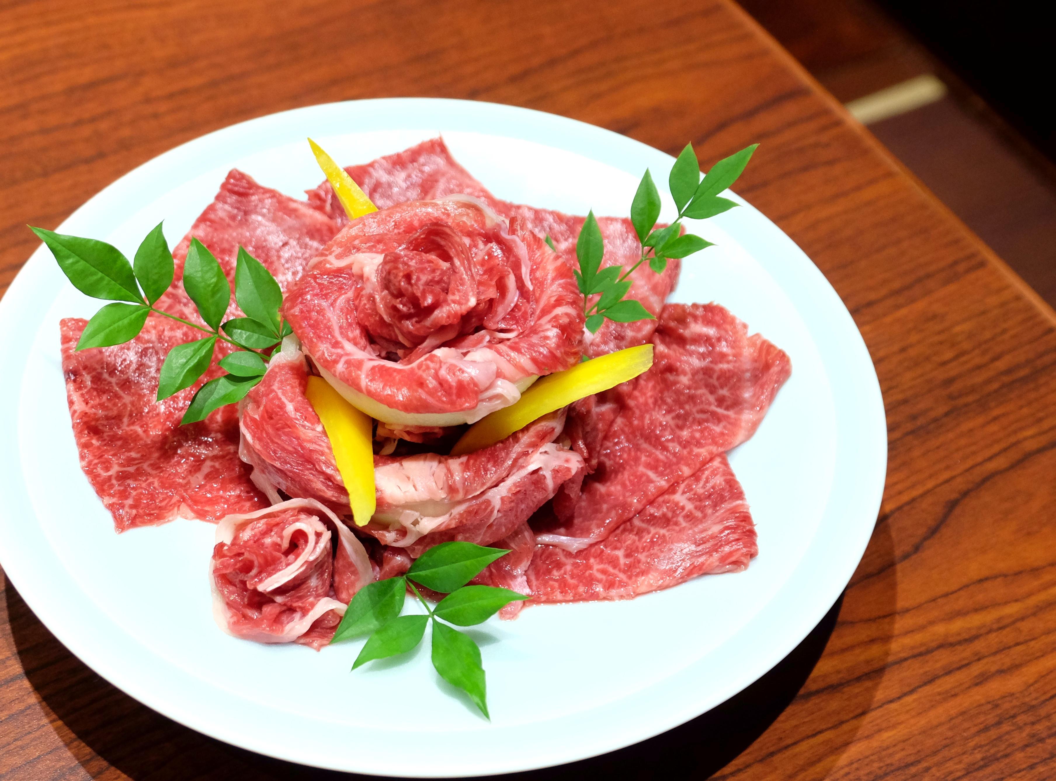 瓢斗,お祝い,肉,プレート,花