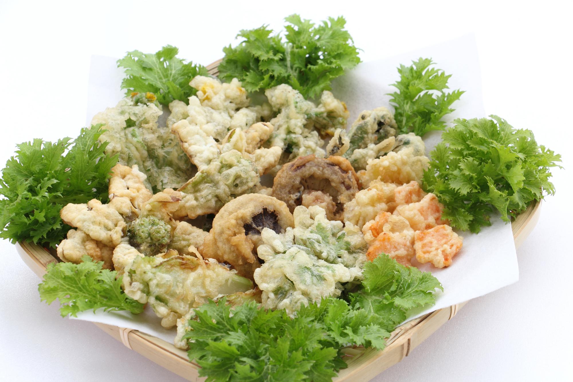 春野菜の天ぷらについて