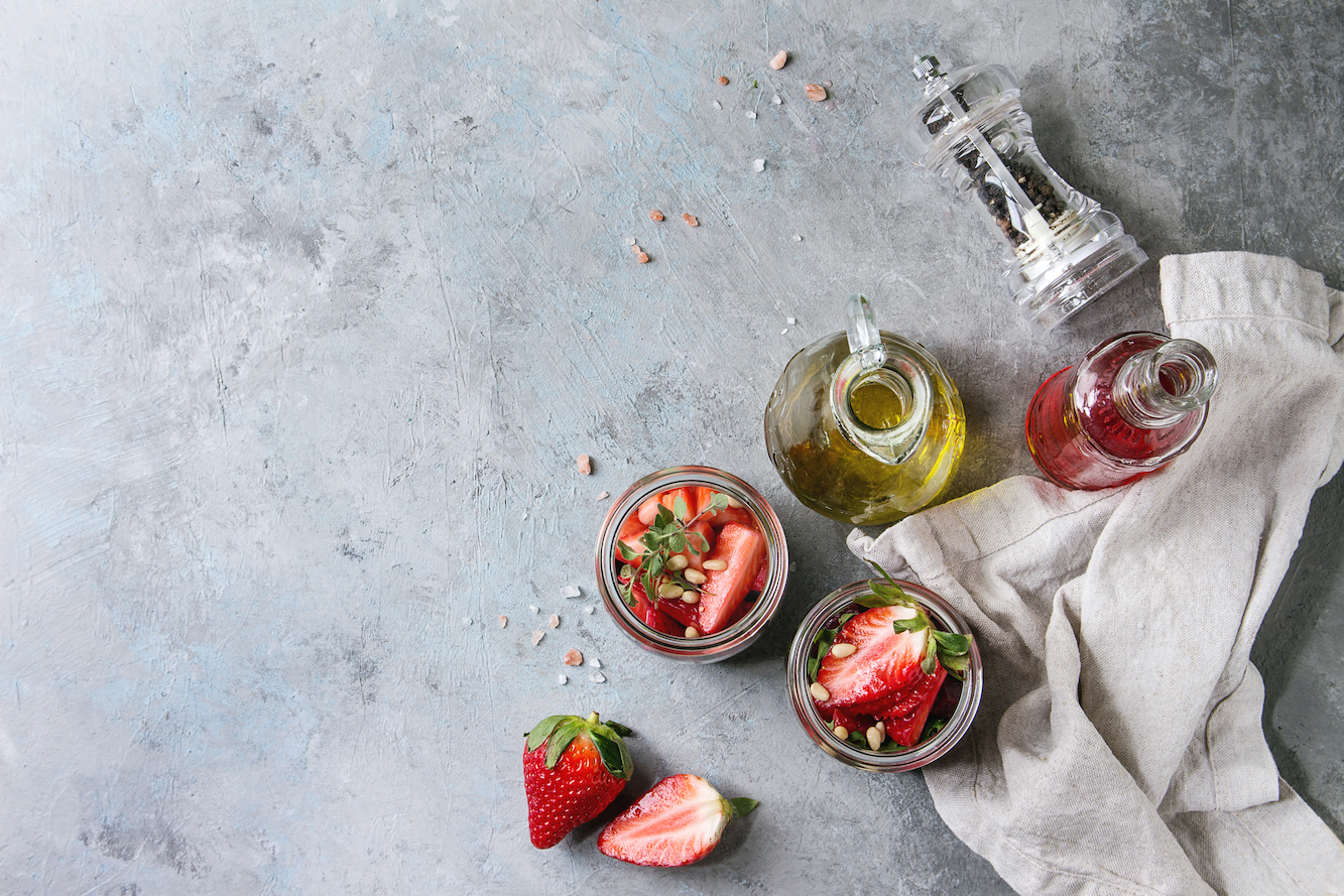イチゴ酢の作り方