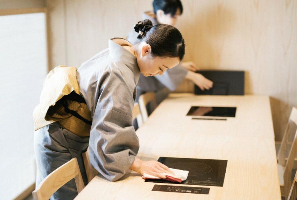 瓢斗,清掃,消毒,渋谷,日本料理,和食,個室